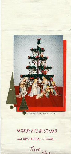 1995: Goose feather tree with Hummel creche